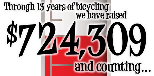 Through 13 years of fundraising, Bike For Food has provided $724,000 to local food pantries.